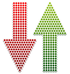 Dotted up down arrows vector