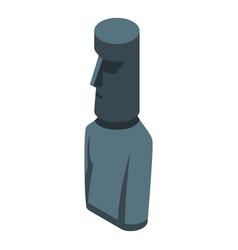 Eastern island landmark icon isometric style vector
