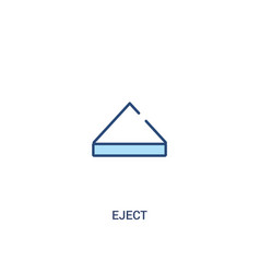Eject concept 2 colored icon simple line element vector