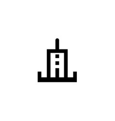 electric station icon symbol sign vector image