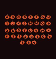 font design alphabet halloween style vector image