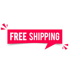 free shipping speech bubble vector image