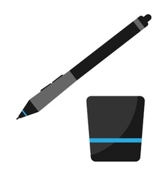 Graphics tablet stilus pen vector