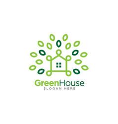 Green house logo template real estate logo vector