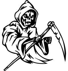 Grim reaper - halloween set vector