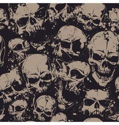 Grunge Skull Seamless 2 vector image