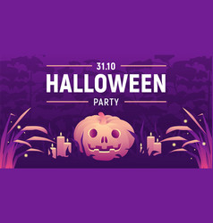 halloween party banner vector image