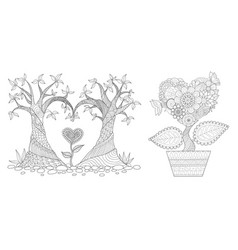 heared shap tree vector image