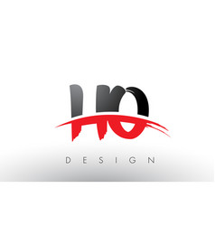 Ho h o brush logo letters with red and black vector