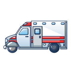 hospital ambulance icon cartoon style vector image