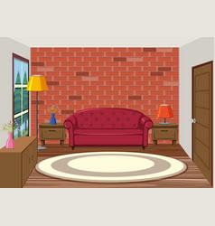 Interior of living room vector