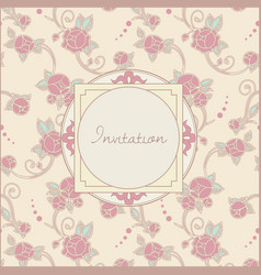 invitation card in retro style vector image