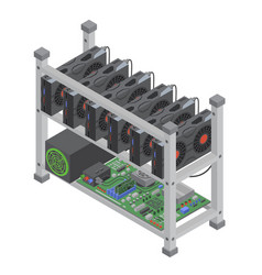Isometric crypto currency mining single vector