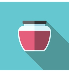 Jam jar flat style vector image vector image