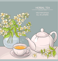 jasmine tea vector image