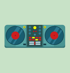 Live dj set turntable graphic vector