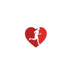 Love running template vector
