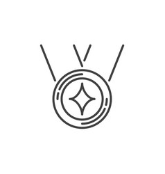 medal concept simple icon in thin line vector image
