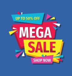 mega sale discount layout concept vector image