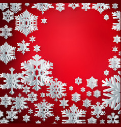 merry christmas and happy new year paper vector image