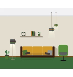 Modern interior living room vector image