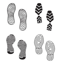 New foot print set resize vector image