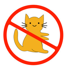 no catsprohibiting sign location or entry pets vector image
