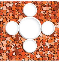 orange bubbles copyspace vector image