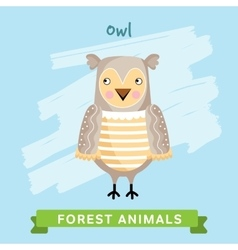 Owl forest animals vector image