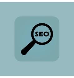 Pale blue SEO search icon vector