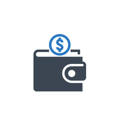 personal wallet related glyph icon vector image