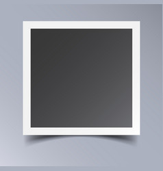 Photo frame isolated on grey background for your vector