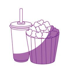 Pop corn bucket icon vector