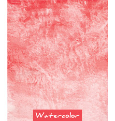 red abstract watercolor hand draw background vector image