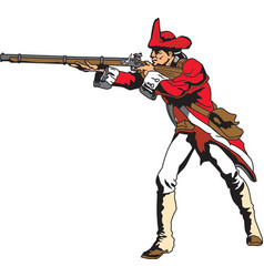 red coat logo mascot vector image