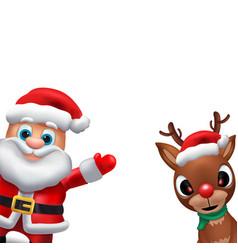santa claus sales banner design - holiday greeting vector image