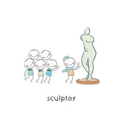 Sculptor vector