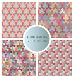 Seamless Gradient Color Pattern Collection vector image