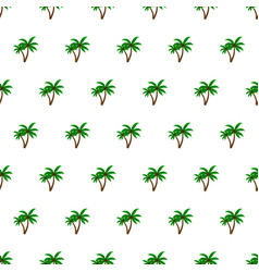 seamless pattern summer beach palm tree vector image