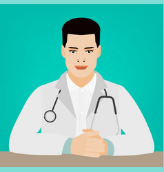sitting doctor image vector image