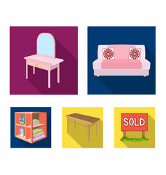 Soft sofa toilet make-up table dining table vector