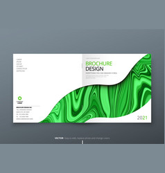 Square brochure template layout design corporate vector