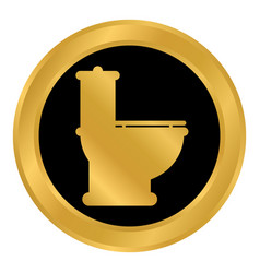 toilet button on white vector image