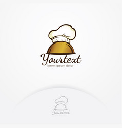 top chef logo design vector image