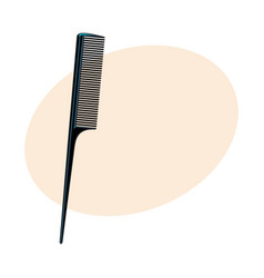 traditional plastic black hairdresser comb sketch vector image
