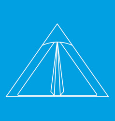 Triangle tent icon outline style vector