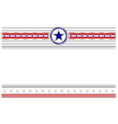 us flag symbol patriotic holiday poster banner vector image