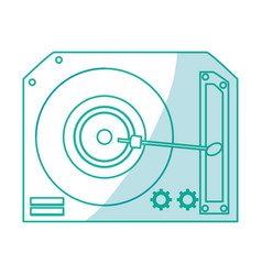 Vinyl turntable isolated vector