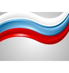 Wavy Russian colors background Flag design vector image vector image