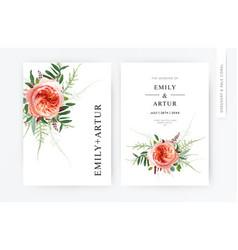 wedding floral minimalist modern invite vector image